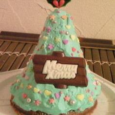 クリスマスツリー立体ケーキ♪