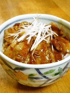 ルクエde豚ばら薄切り肉の角煮丼風*