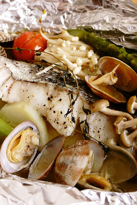 野菜たっぷり☆白身魚のホイル焼き