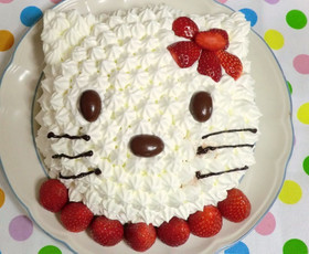 誕生日に簡単♪立体キャラデコケーキ♪