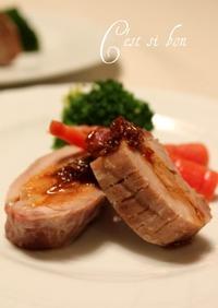 塩豚のグリル・オニオンとクミンのソース