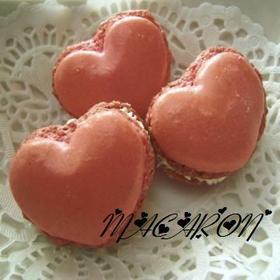 * バレンタイン ❤ ハートのマカロン♪
