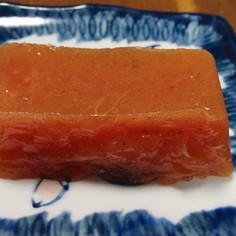 熟し柿で作る「まるで干柿の味のゼリー」