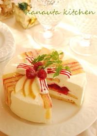 プレゼントBOXのレアチーズケーキ♪