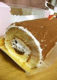 干し柿のロールケーキ