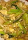 ターサイと卵と豚肉の中華炒め