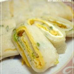 台湾の定番朝食★たまご巻き(蛋餅)