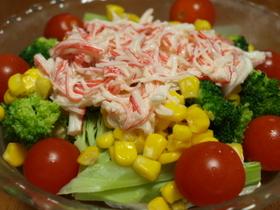 彩りサラダ♪カニカマソース