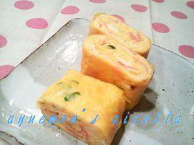 ✿カイワレとハムの卵焼き✿お弁当にも♫