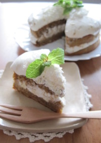 ホワイトチョコのモカ米粉ケーキ