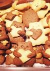 *簡単さくさくクッキープレーン&ココア*