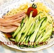 冷麺(冷やし中華)のタレの写真