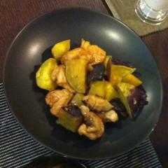 サツマイモと鶏肉の筑前煮