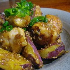 鶏とお芋のゴマ味噌炒め☆☆☆