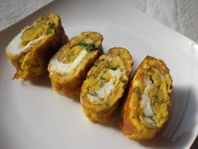 大葉おかかチーズの卵焼き