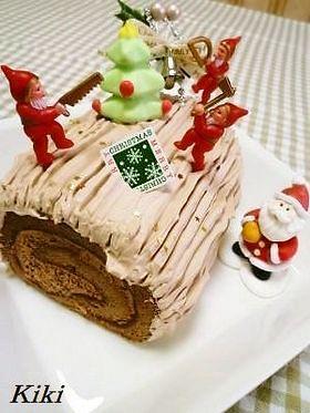 市販のケーキdeブッシュドノエル♪