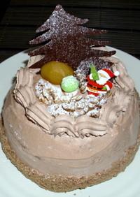 クリスマス生チョコクリームデコケーキ