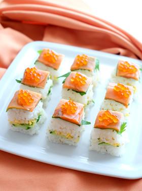 パーティに♪スモークサーモンの押し寿司♪