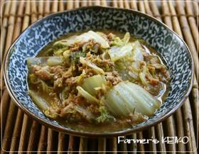 【農家のレシピ】さば缶de 白菜の味噌煮