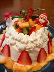 簡単☆クリスマスにも♪手作りアイスケーキの写真