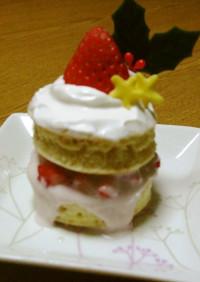赤ちゃんのクリスマスケーキ♪