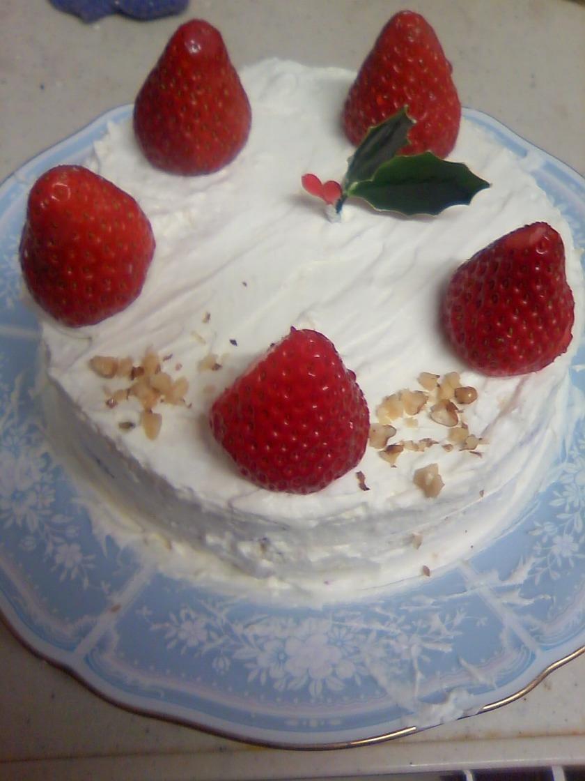 レンジで簡単クリスマスケーキ