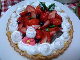 苺タルトのクリスマスケーキ