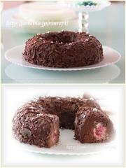 フランボワーズガナッシュケーキの写真