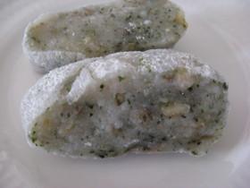 HBで山梨の豆餅(クルミ青のり)