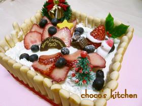 赤ちゃんも一緒に♡クリスマスケーキ!