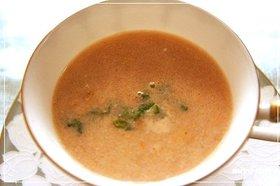 正月エコ料理「エビ殻でクリームスープ風」