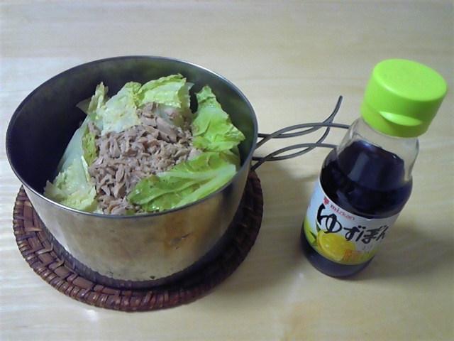男の料理 10分でつくれるツナ缶の白菜鍋