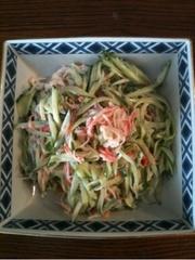カニカマきゅうりサラダの写真