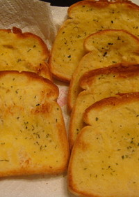 簡単!食パンでガーリックブレッド