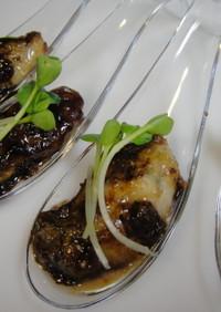 シャンパンに生牡蠣☆バルサミコ焼