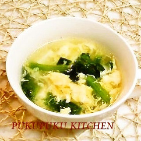 豆腐と卵のふんわりとろみスープ(中華風)