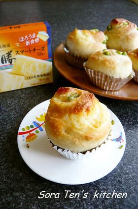 大好き!枝豆・チーズごろごろ♪パン