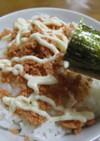 ひとりランチに☆鮭マヨ丼♪