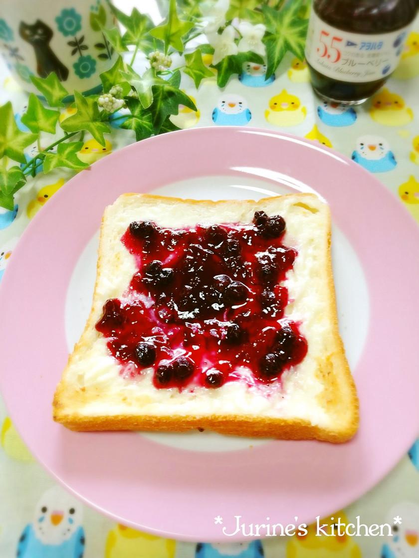 ♡ベリークリームチーズトースト♡