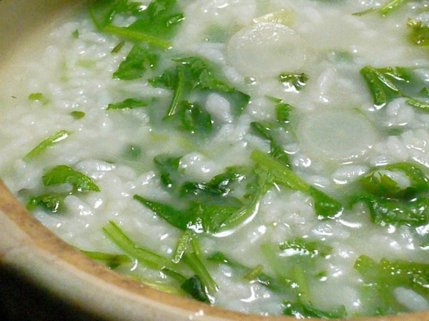 中華風味で簡単おいしい七草粥♪