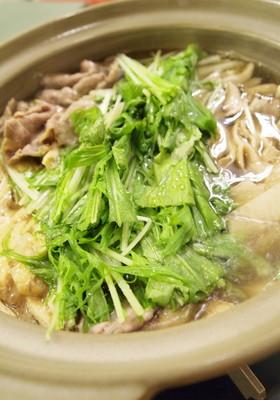 水菜使い切り♪豚肉と大根のはりはり鍋