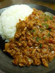 ひき肉のカレーの写真