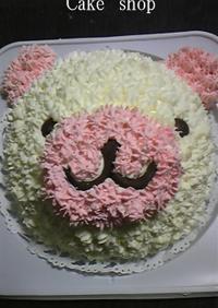 プレゼントに*クマのデコレーションケーキ