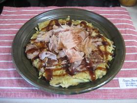 たっぷり大和芋とそば粉入りお好み焼き