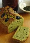 緑茶の茶がらとおからのブレッドケーキ