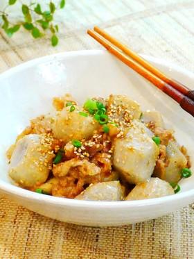 ✿里芋と豚肉のオイマヨ胡麻炒め✿
