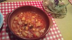 水煮大豆のトマト煮