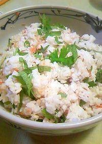 アジの干物と梅干しの混ぜご飯