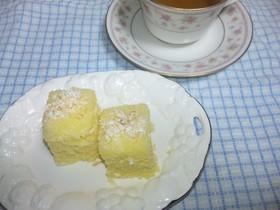 電子レンジで簡単レモンシフォンケーキ