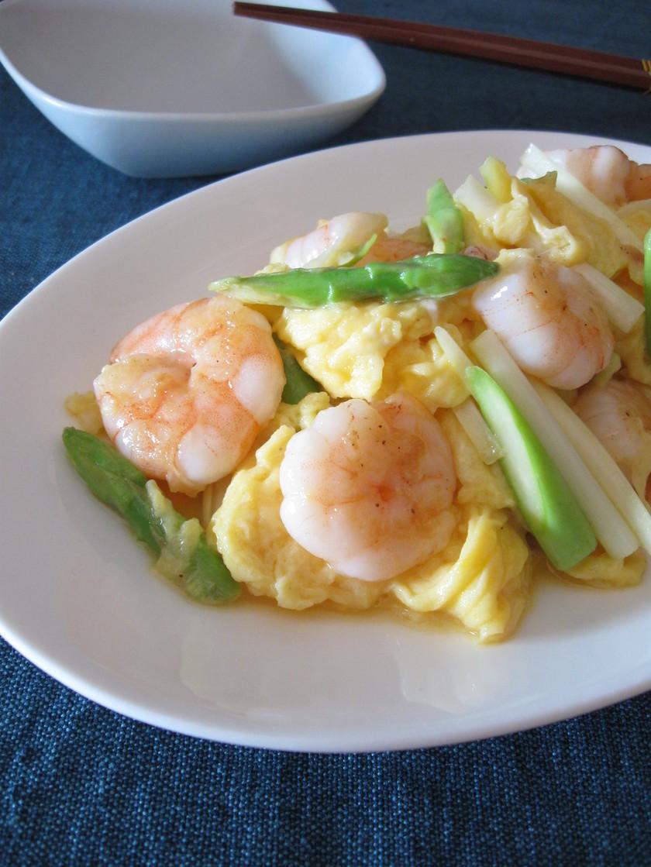 【お家で簡単中華】海老とニラの卵炒め